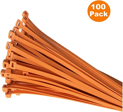 4.8mm x 300mm Brown Zip Cable Tie Pack of 100