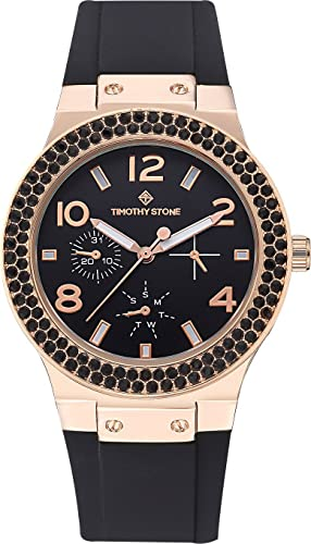 Timothy Stone collection FAÇON SPORT - reloj mujer de cuartzo, color Oro Rosa/Negro: Amazon.es: Relojes