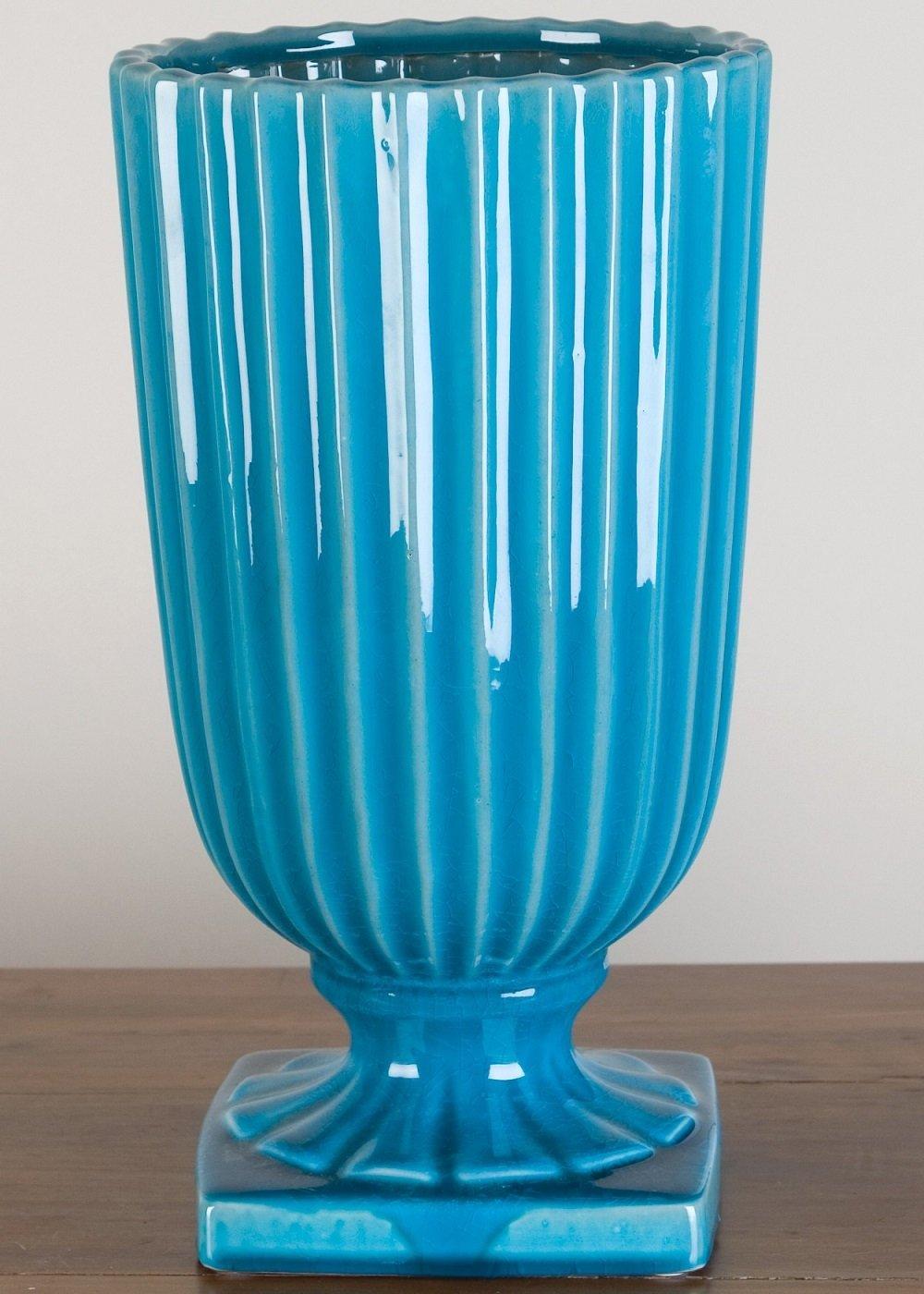 Home decor. Sea Green Vase. Dimension: 6 x 6 x 13. Pattern: Light Sea Green.