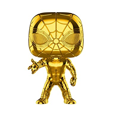 Funko Pop! Marvel: Studios 10 - Iron Spider (Chrome) Toy, Multicolor: Toys & Games