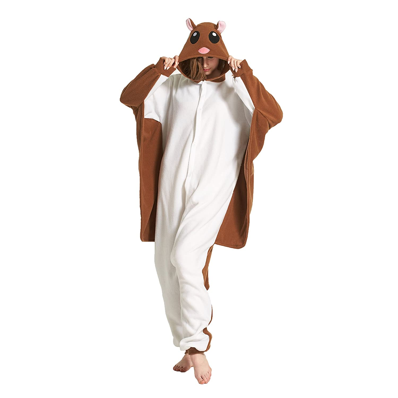 Hstyle Unisexe Adulte Pyjama Onesie Cospaly Anime Animal Costume Combinaison Outfit Nuit V/êtements