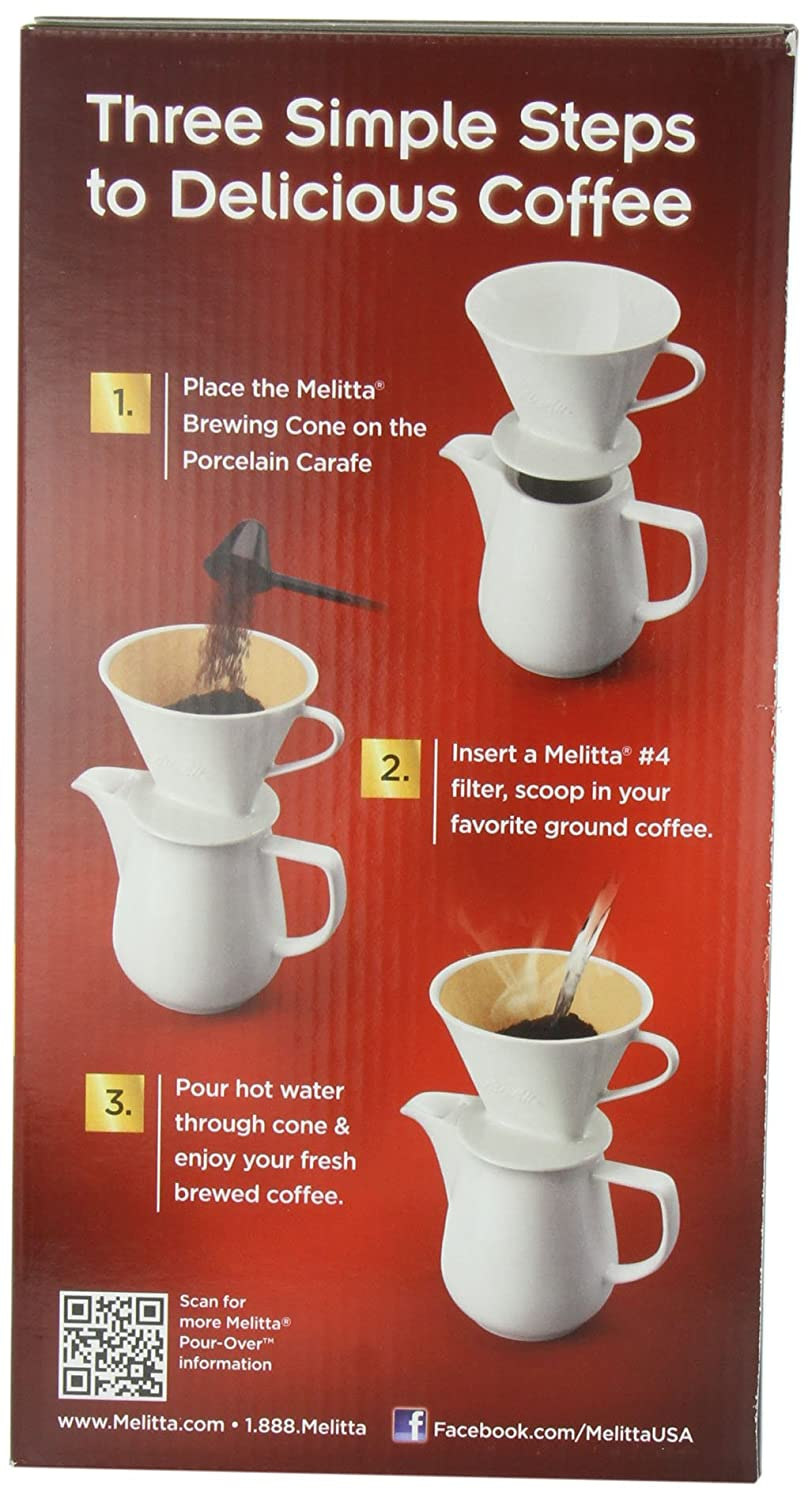 Amazon Melitta Porcelain Gourmet Coffeemaker 1 Count Single Serve Brewing Machines Kitchen Dining