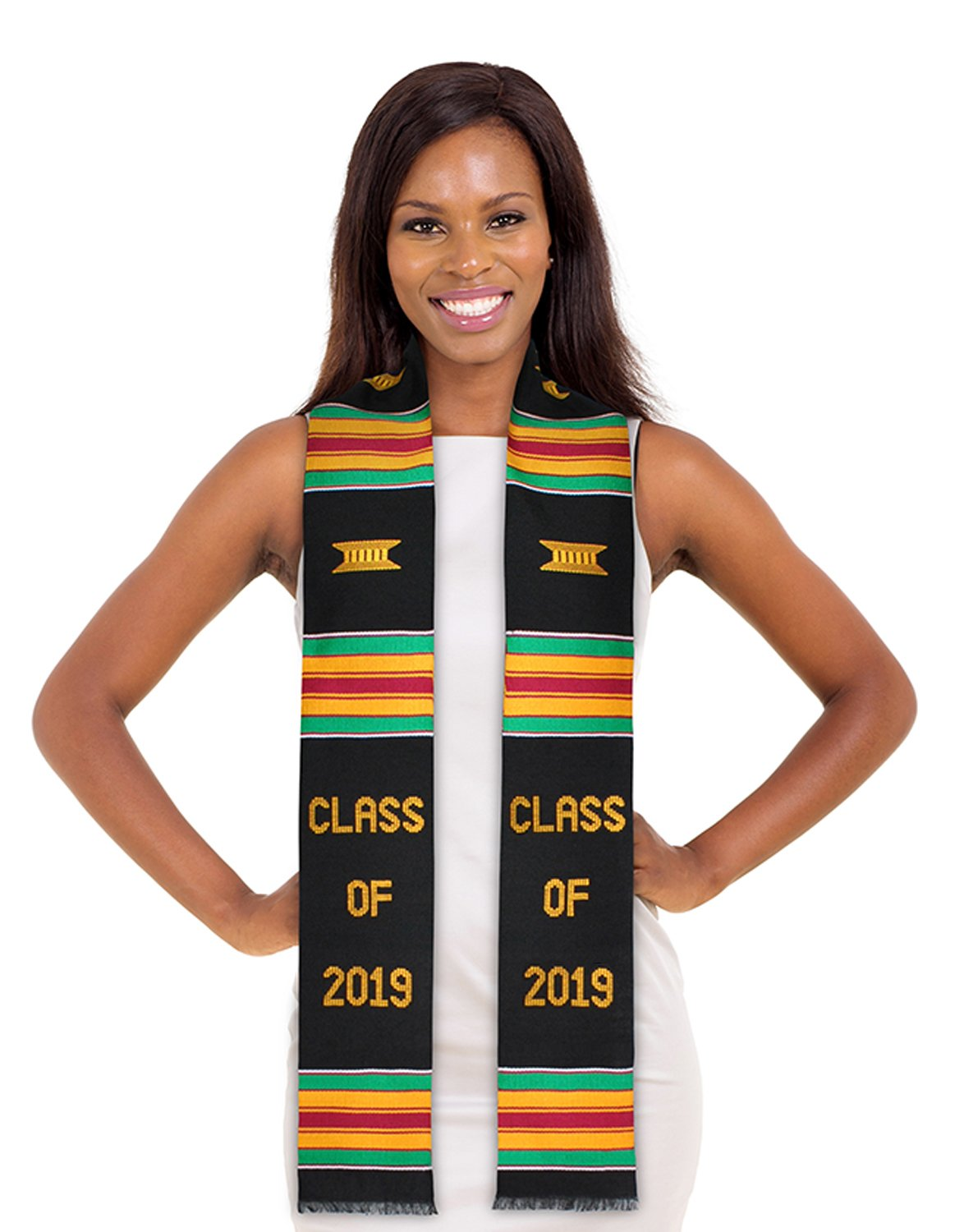ADVANSYNC Class of 2019 Kente Cloth Graduation Stole and Our Daily Bread Book (Class of 2019)