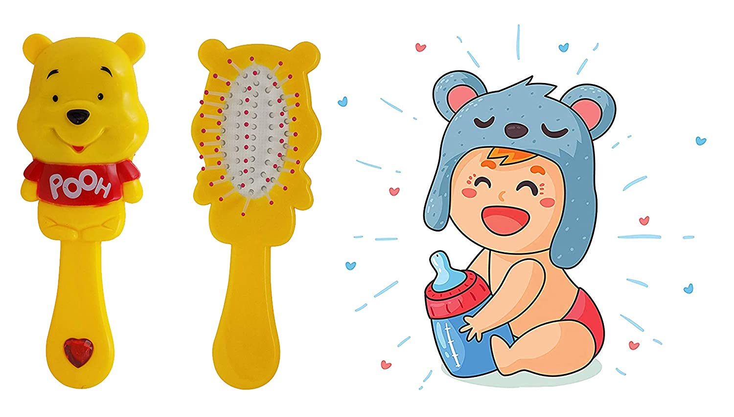 Buy Pelo Hair Brush For Kids Girls And Women Latest Detangling Hair Brush And Comb Cartoon Character Hair Brush For Gift Yellow 10 Grams Pack Of 1 Online At Low Prices In