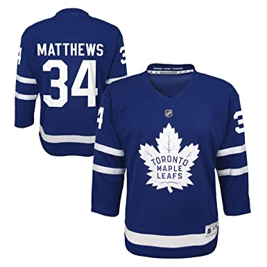 d31ee88c4f3 Auston Matthews Toronto Maple Leafs NHL Youth Blue Player Jersey (Youth  Small Medium 8