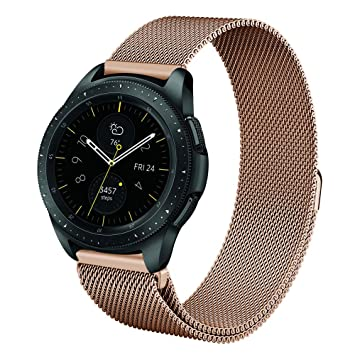 FINTIE Correa para Samsung Galaxy Watch Active/Galaxy Watch 42mm / Gear Sport/Gear S2 Classic/Huawei Watch 2-20mm Pulsera de Repuesto de Acero ...