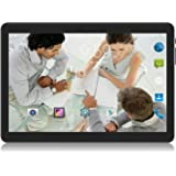 Android Tablet 10 Inch, 2GB+32GB,3G Unlocked Phablet with Dual SIM Card Slots, 2MP+5MP Dual Camera, Quad-Core 1.3GHz, WiFi GPS Bluetooth, Black