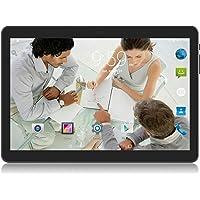 Tablet 10 Pulgadas Android 3G Desbloqueado Phablet con Doble Tarjeta SIM Ranuras Tablet PC con WiFi, Bluetooth, GPS (Negro)