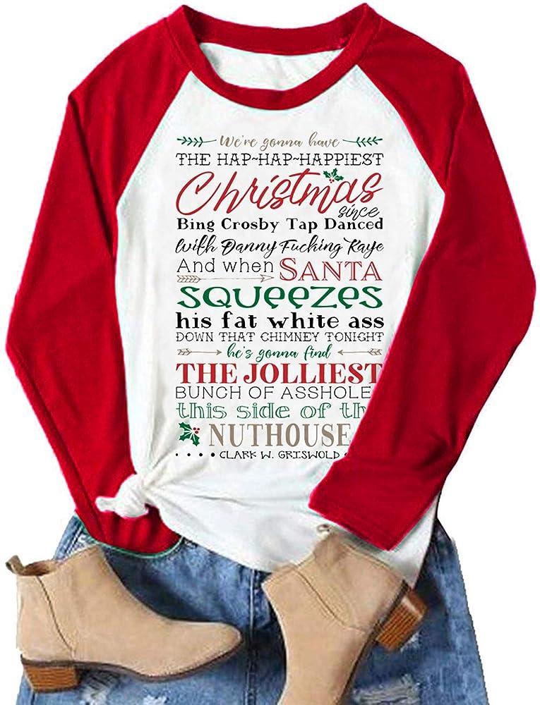 This Girl Loves Christmas Santa Xmas Gift Ladies T-Shirt Size S-XXL