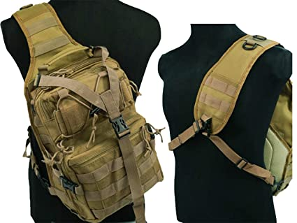 Amazon.com: Táctico Molle 3 maneras hombro Sling bolsa de ...
