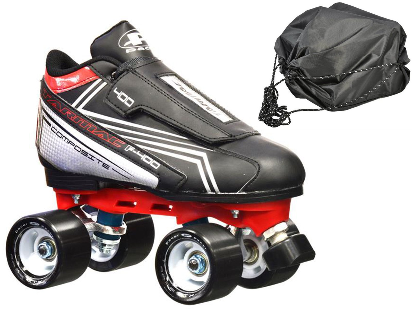 New! Pacer Tarmac F-400 Quad Roller Speed Skates w/ FREE Drawstring bag! (Mens 6)