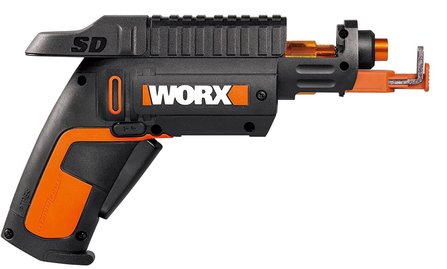Worx Wx255l Sd Semi Automatic Power Screw Driver With Bor Impact Drivers Wrench Ryobi Iw 2000 Holder Home Improvement