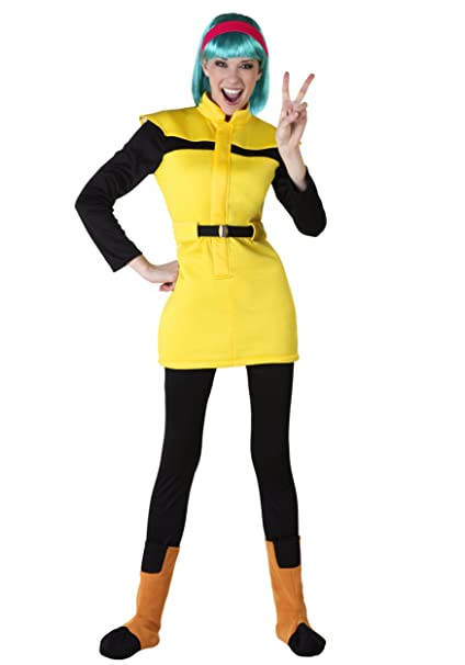 funcostumes Dragon Ball Z adulto Bulma disfraz - Amarillo -