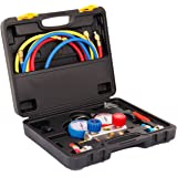 Euroeshop New climatisation 1-Etape 1 / 3HP Pompe à vide 5 CFM HVAC AC Diagnostic Manifold Gauge Tool Set réfrigération R134A