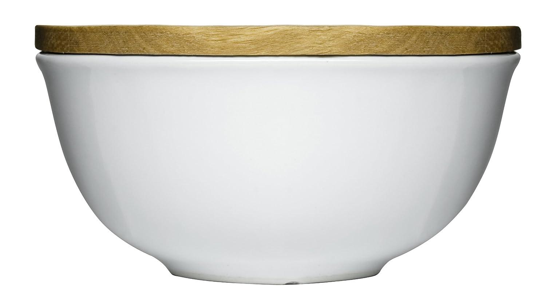 Sagaform 5015951 Stoneware Keep Bowl with Oak Lid, Large Sagaform - DROPSHIP