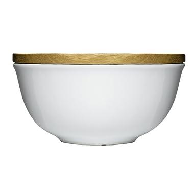 Sagaform 5015951 Stoneware Keep Bowl with Oak Lid, Large