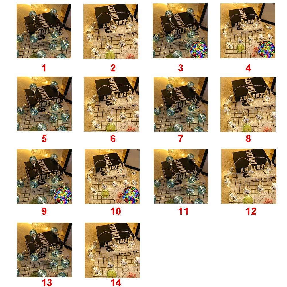 LED Fairy String Lights, LED Ball String Lights, Indoor Outdoor Xmas Lights Globe Fairy String Lights Starry Lights, for Garden, Home, Wedding 1.5/2/3/5m(1.5m 10 Bulbs,Colorful Light+blue Bulbs) by Ragdoll50 (Image #3)