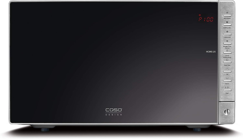 Caso HCMG 25 Comptoir 25L 900W Noir Comptoir, 25 L, 900 W, boutons, Noir, Acier inoxydable, 1100 W Micro-ondes Acier inoxydable