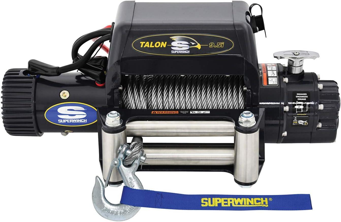 Amazon Com Superwinch 1695210 Talon 9 5i 12 Vdc Winch 9 500 Lb 4 309 Kg Capacity With Roller Fairlead Automotive