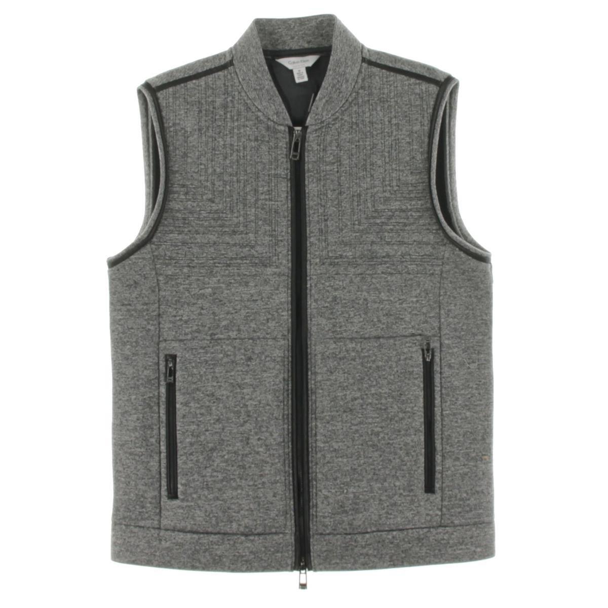 Calvin Klein Men's Premium Quilted Neop, Soot MARL, Medium