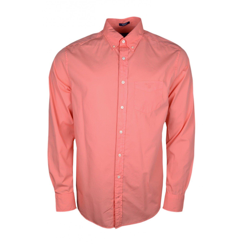 Orange XL Gant Chemise Poplin Orange pour Homme