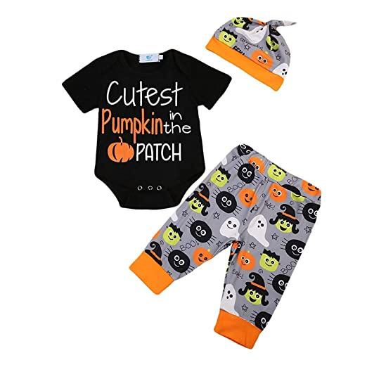 3pcs set toddler baby boy girl my 1st halloween party letter rompers bodysuit pumpkin pants