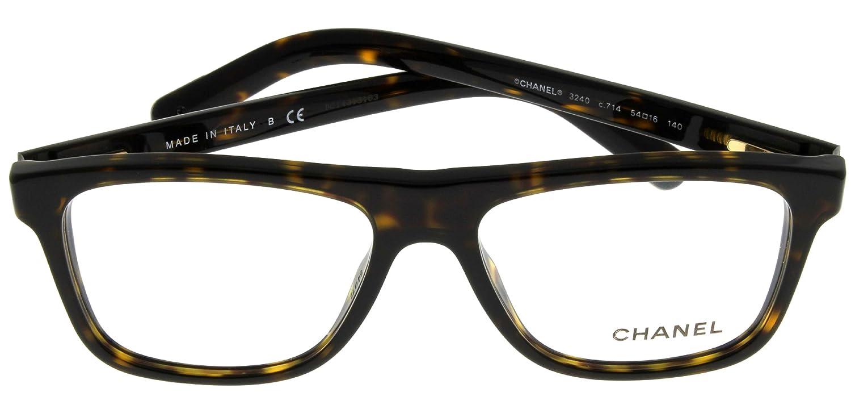 Amazon.com: Chanel Lentes Marco unisex de tortuga ch3240 ...