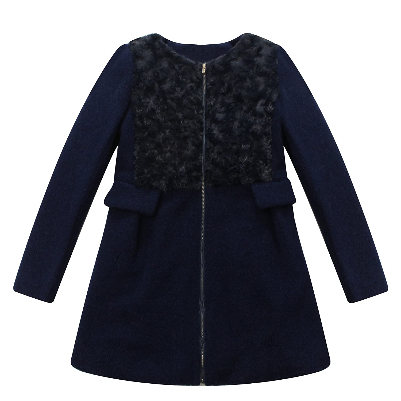 Richie House Big Girls' Padding Jacket with Short Floss RH1199