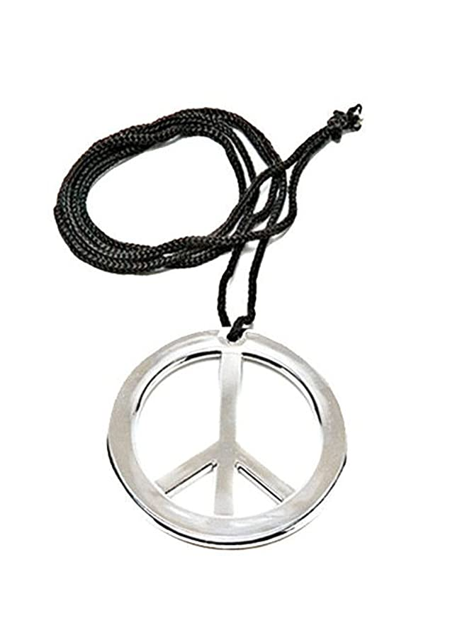 Hippie Costumes, Hippie Outfits Peace Pendant Metal $6.44 AT vintagedancer.com