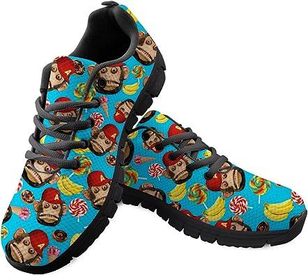 Windeam - Zapatillas de Deporte para Mujer, Zapatillas de Deporte con Forma de Animal AFFE Gorilla, Zapatillas de Correr para Calle, Transpirables, Antideslizantes, para Gimnasio, Color, Talla 42 EU: Amazon.es: Zapatos y