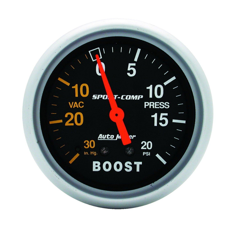 Auto Meter 3401 Sport-Comp Mechanical Boost/Vacuum Gauge by Auto Meter (Image #1)