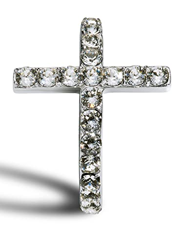 Amazon.com  Women s Stainless Steel Cross Ring accented with ... 515f0578c