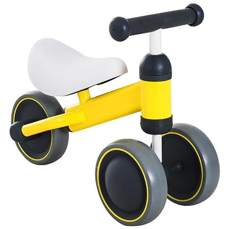 HOMCOM Triciclo Bicicleta sin Pedales para Niño 1-3 Años con Sillón Cómodo Aprender a