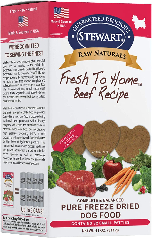 Stewart Raw Naturals Freeze Dried Patties Grain Free Made in USA