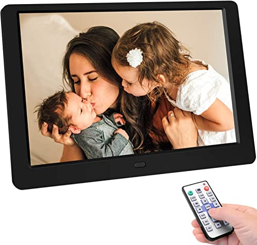 Tenswall 10 Inch Digital Photo Frame Upgraded HD1280x800,16 10 Digital Picture Frame Full IPS Display Photo Music Video Calendar, Auto On Off Timer, Support 32GB USB Drives SD Card,Remote Control