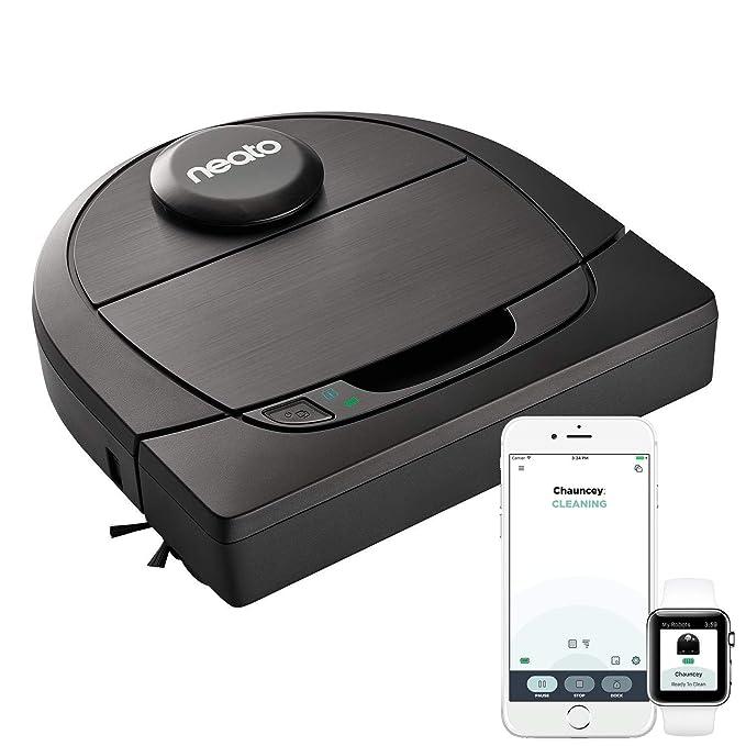 Neato Robotics D602 Connected - Compatibile con Alexa - Robot aspirapolvere con stazione di ricarica, Wi-Fi & App: Amazon.es: Hogar