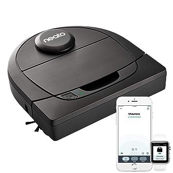 Neato Robotics D602 Connected - Compatibile con Alexa - Robot aspirapolvere con stazione di ricarica,