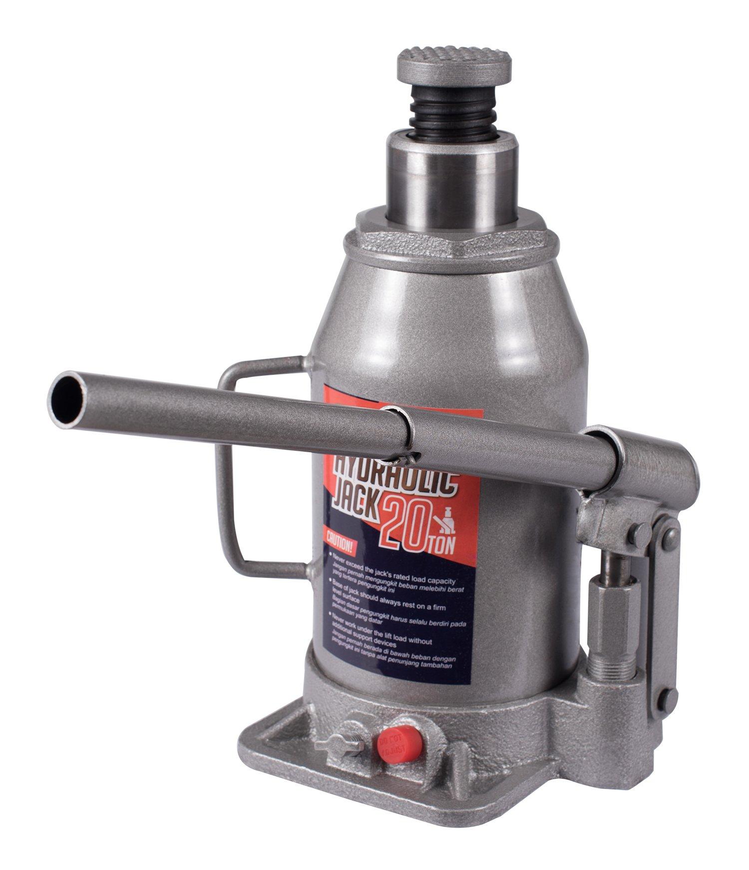 BAISHITE Hydraulic Bottle Jack 20 Ton Capacity Grey by BAISHITE (Image #2)