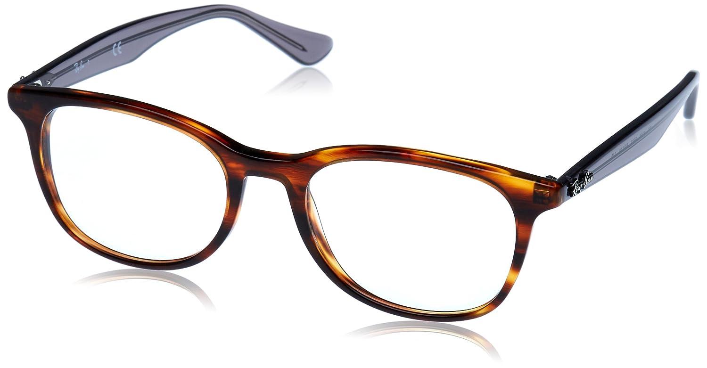 Amazon.com: Ray-Ban rx5356 Eyeglasses, 52 mm, Parte superior ...