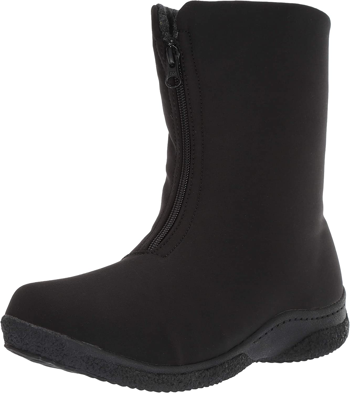 Propet Women's Madi Mid Zip Snow Boot, Black, 7H Narrow Narrow US