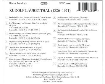 Lebendige Vergangenheit Rudolf Laubenthal Rudolf Laubenthal