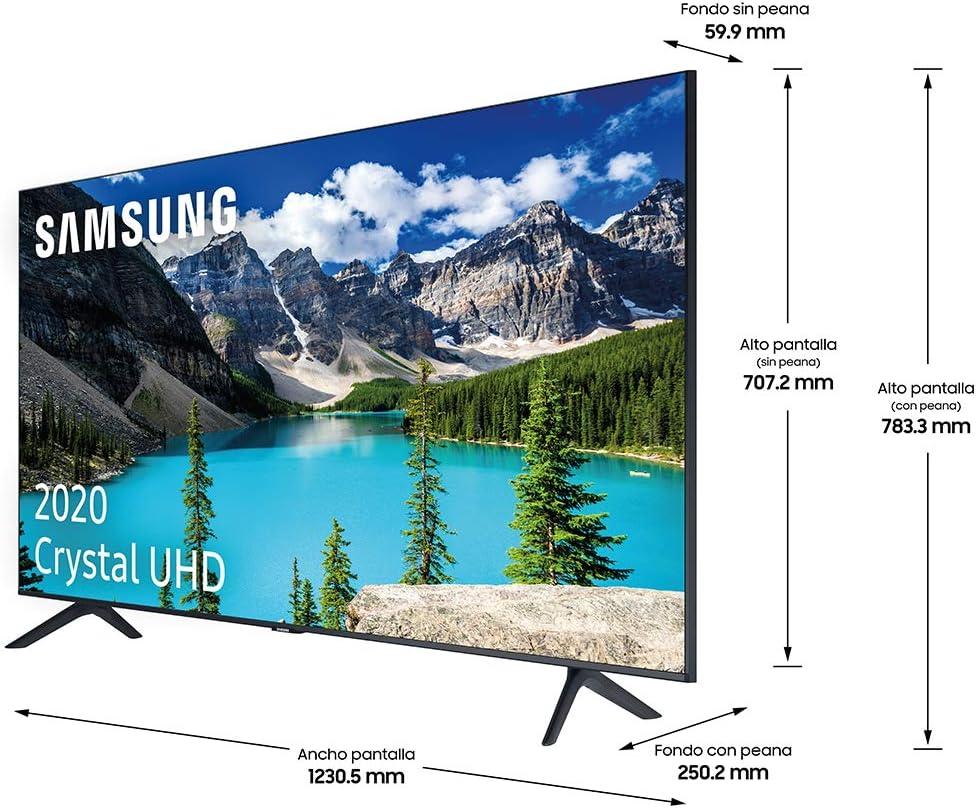 Samsung Crystal Uhd 2020 Smart Tv Mit 4k Auflösung Hdr 10 Crystal Bildschirm 4k Prozessor Purcolor Intelligenter Klang Eine Fernbedienung Und Integrierter Sprachassistent Heimkino Tv Video