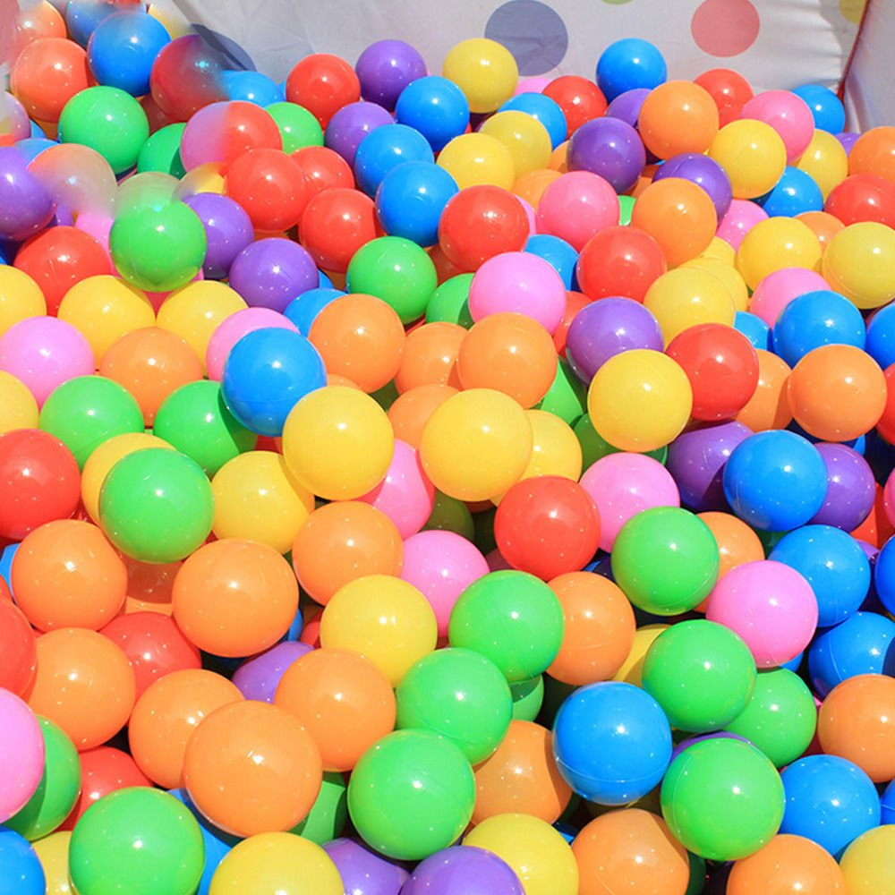 Detailorpin 7 Colors Free BPA Free Crush Proof Plastic Balls for Ball Pit Balls for Toddlers Kids Toys (US Stock) (200 pcs 2.17'')