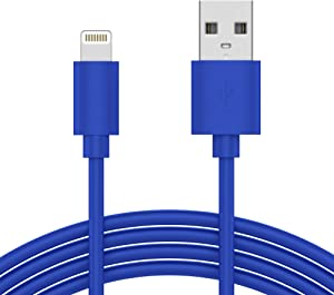 iPhone Charger Lightning Cable 10ft - by TalkWorks | Long Heavy Duty MFI Certified Apple Charger iPhone Cord for iPhone 11, 11 Pro/Max, XR, XS/Max, X, 8, 7, 6, 5, SE, iPad - Blue