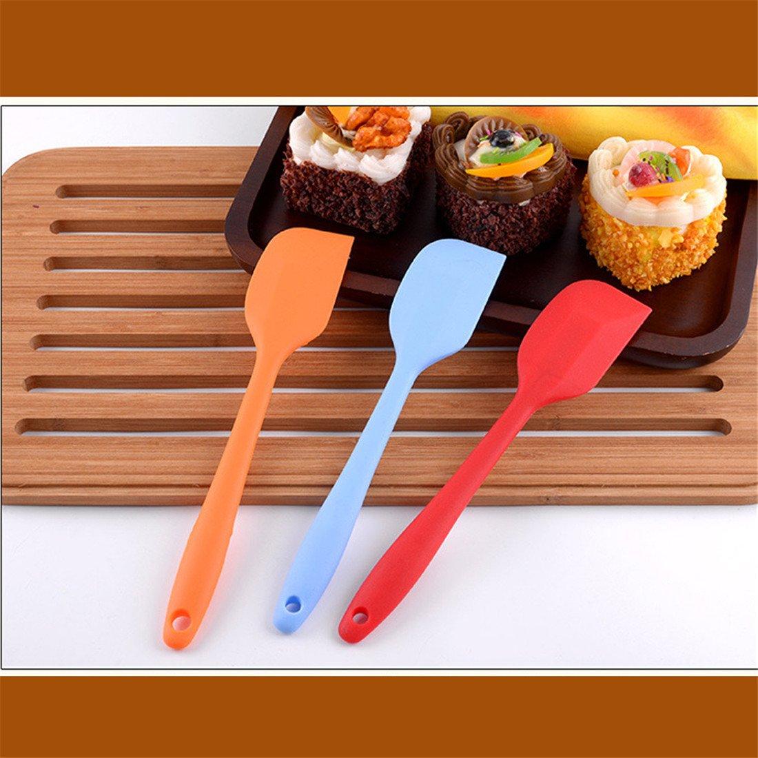 esp/átulas de alta temperatura esp/átulas de silicona de grado alimenticio azul para mezclar mantequilla de cocina y hacer postres Esp/átula integrada para reposter/ía