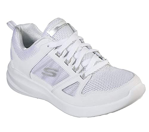 Skechers, Donna, Skybound, Mesh/Pelle, Sneakers, Bianco