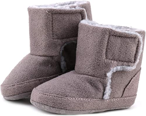 Kids Baby Girl Winter Boots Shoes Toddler Infant Cotton Fur Lining Snow Booties