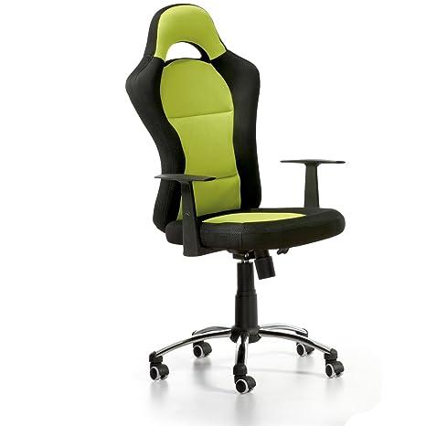 Silla de oficina estilo deportivo ,color verde