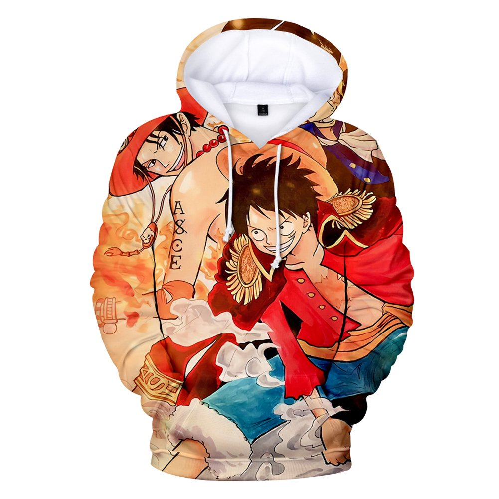 CTOOO 2018 Sweats à Capuche One Piece Elément Quadratique Anime Homme Mode XXS-3XL