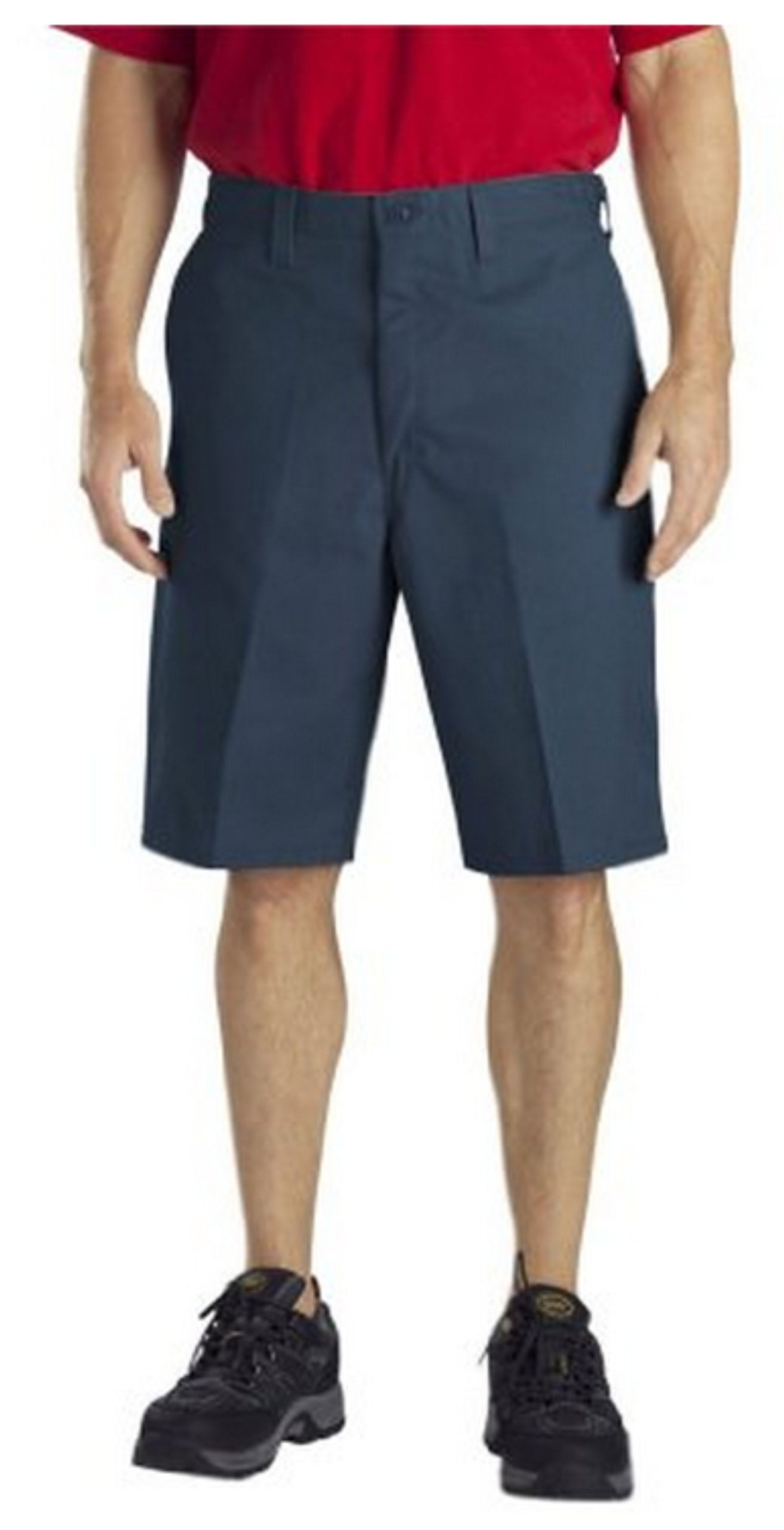 Dickies Occupational Workwear LR337NV 36 Cotton Relaxed Fit Men's Industrial Cargo Short with Metal Tack Closure, 36'' Waist Size, 11'' Inseam, Navy